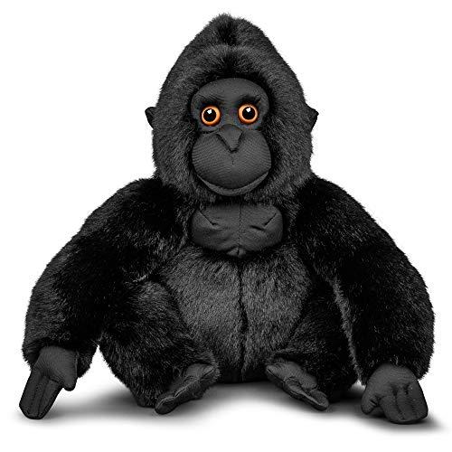 Animigos 37562 Plüschtier Gorilla, Stofftier im realistischen Design, kuschelig weich, ca. 26 cm groß