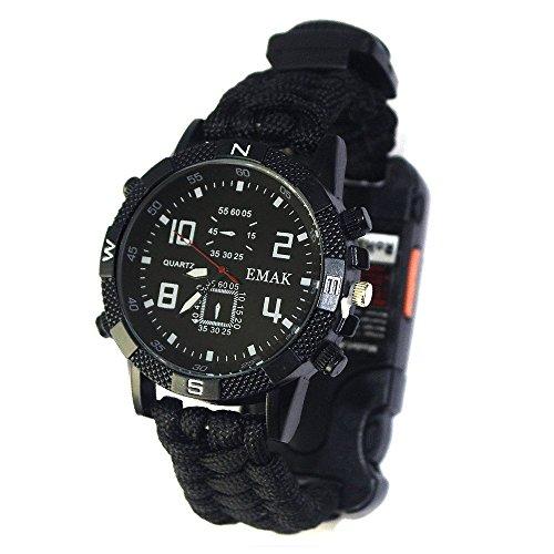 Survival Armband mit Eingebautem Feuerstarter und Pfeife von Trixes