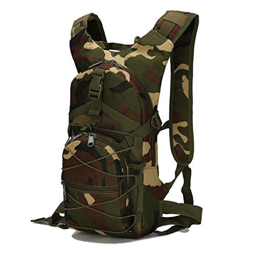 CCJW Mochila de Viaje Turismo al Aire Libre American Camuflaje Sports Water Bag Backpack (Color : E)