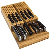 In-Drawer Bamboo Knife Block Holds 12 Knives (Not...