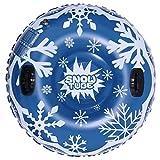 43in Tubo De Nieve para Trineo Trineo De Nieve Inflable Muy Resistente con Respaldos Y Asas, Juguetes para Nieve para Niños Y Adultos para El Parque Acuático De Esqu