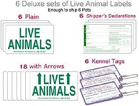 Live Animal Airline Labels - 6 FULL Sets Labels + 6 Kennel Tags