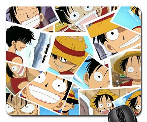 luffy polaroid Mouse Pad, Mousepad (10.2 x 8.3 x 0.12 inches)