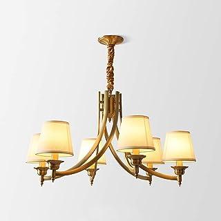 SXXYTCWL Pendentif Moderne Light Pure Copper American Chandelier Lumière Lumière Lumière Lampe de Salon Créatif Country Re...