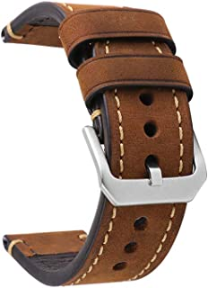 omyzam Bracelet Montre Cuir Montre Vache Remplacement Bande de Poignet Bracelet Nato Bracelet de Vintage Homme Femme Grand...