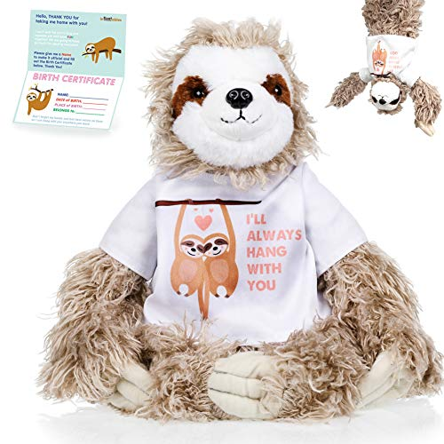 Sloth Stuffed Animal - The Original I'll Always Hang with You Large Sloths Plush Animals Toy. Sloth Gifts Sticky Hands for Birthdays, Valentines or Christmas. Cute, Fun, Soft, and Pre Wrapped!
