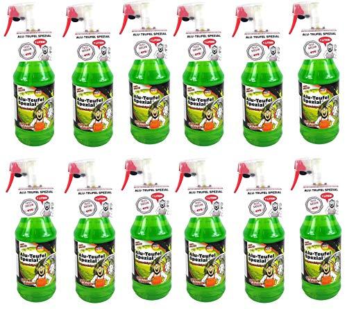 Tuga 12 x 1 Liter Alu-Teufel Felgenreiniger Spezial Säurefreies Aktivgel für Felgen und Radkappen. Biologisch abbbaubar