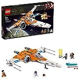 LEGO Star Wars - Caza Ala-X de Poe Dameron, Juguete de Construcción Inspirado en la Guerra de las Galaxias, Incluye 3...