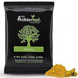 1 kg Kurkuma Pulver Turmeric Gelbwurz Kurkumin Curcuma gemahlen original vom-Achterhof - schadstoffuntersuchte Spitzenqualität -