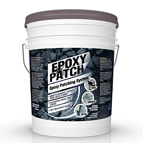 3 Part EPOXY Mortar Patching System - Contains Resin, Hardener & Aggregate. Fills Cracks, Holes, Pits & More! Bonds to Concrete, Asphalt, Wood & Metal. (50 lb Pail)