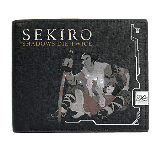 Brieftasche Sekiro Leder Geldbörse Herren Geldbörsen Kreditkarteninhaber Münztasche Geldbörse Geschenke Für Spielefans, C.