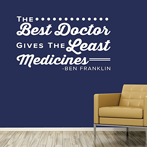The Best Doctor Gives the Least Medicines. - 0316 - Home Decor - Wall Decor - Chiropractic - Health - Doctor - Wellness - Medicine - Ben Franklin