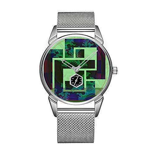 Fashion herenhorloge zilver roestvrij staal waterdicht horloge mannen top merk herenhorloge geestelijke Firewall binnen (anatomisch gehirn) polshorloge