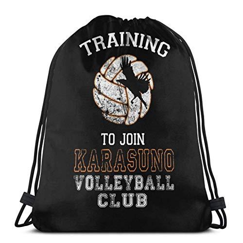 Hdadwy Entrenamiento para unirse al Club de Voleibol Karasuno Sport Bag Gym Sack Mochila con cordón para Compras en el Gimnasio