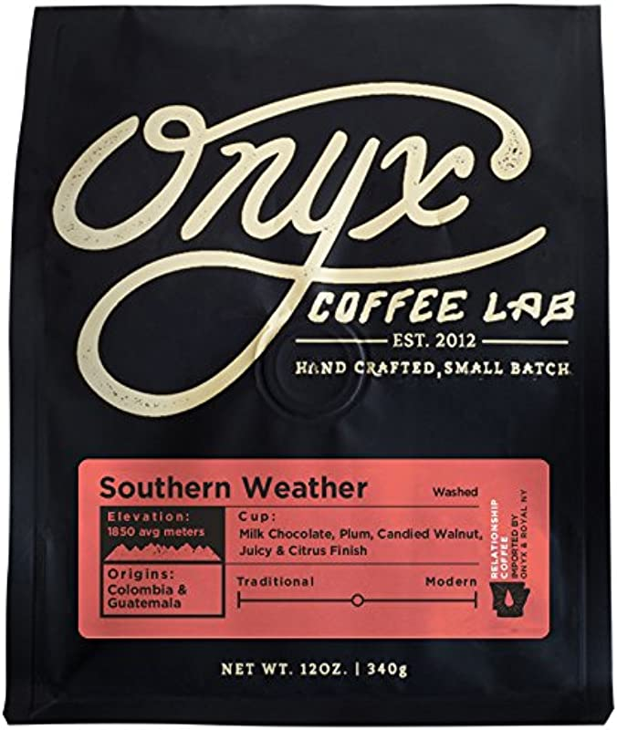 Onyx Coffee Lab Southern Weather Blend Whole Bean Medium Roast Gourmet Specialty Coffee 12 Ounces
