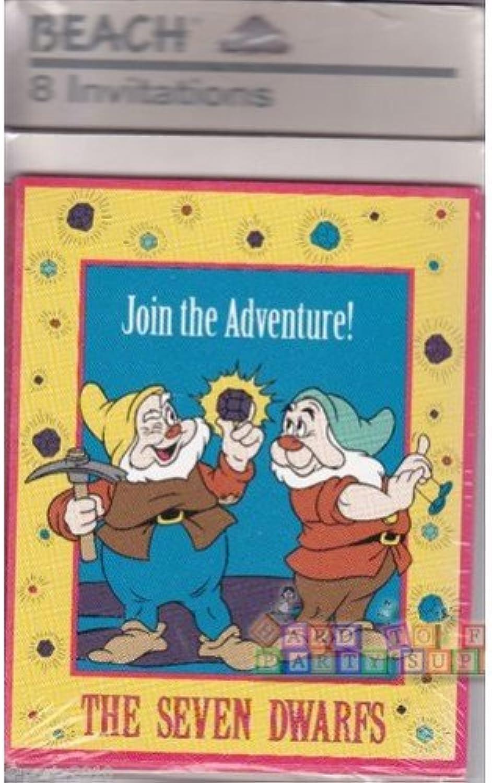 The Seven Dwarfs 8 Invitations