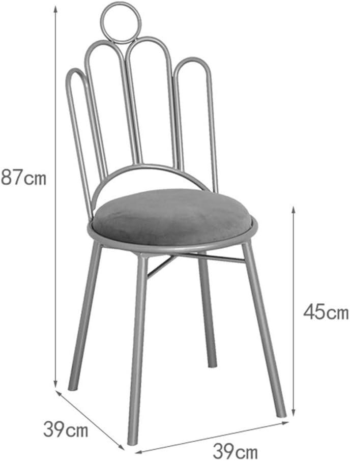 KST Chaise en Fer, Chaise de Loisir de Salon avec Dossier, Chaise multifonctionnelle sans accoudoir, adaptée à la Salle à Manger, Salon, Dressing, hôtel C
