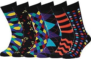 Easton Marlowe Sokken Heren - Gekleurde Herensokken 6 Paar - Colorful Happy Fun Socks Vrolijke Sokken Dames Sokken...