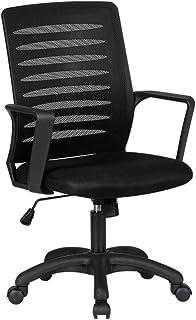 AOYANQI-Sillas de escritorio Home Office sillas de escritorio, silla de la computadora de malla con ruedas for salas de reuniones área de trabajo Sala de Reuniones silla del personal Muebles de oficin
