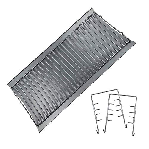 MixRBBQ 27 inch Ash pan, Replacement Part with 2pcs Fire Grate Hanger,...