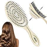 JTENG Cepillo para el cabello, cepillo para cabello orgánico supersuave, para masaje antiencrespamiento, para hombres y mujeres, apto para cabello rizado, cabello húmedo y seco