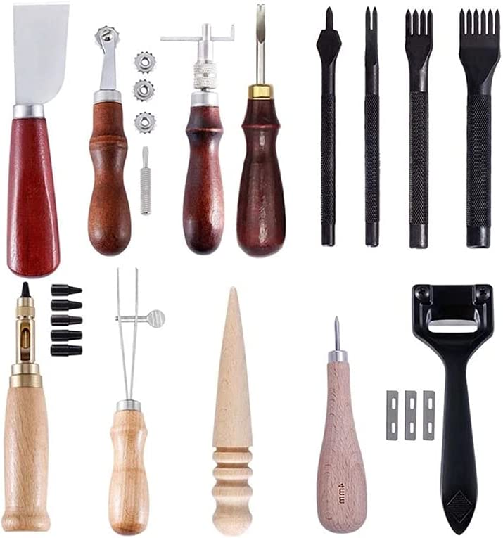 New life XiaoG Professional Leather Craft Max 78% OFF Tools Kit Carving Stitching Wor