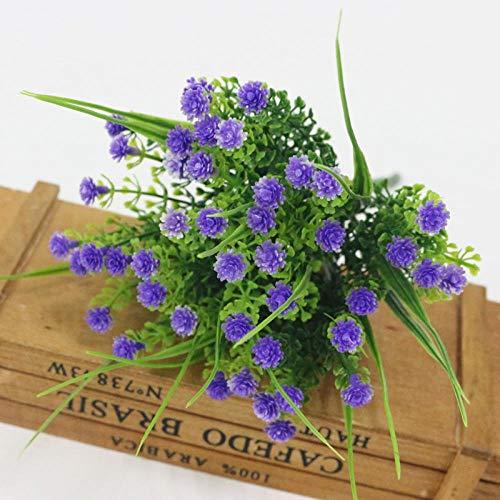 Künstliche Blume Künstliche Plastik Gefälschte Blume 5 Zweig Gypsophila Für Hochzeit DIY Dekoration Zubehör Home Party Office Dekor Lila
