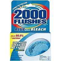 2000 Flushes Blue Plus Bleach Automatic Toilet Bowl Cleaner, 3.5 OZ