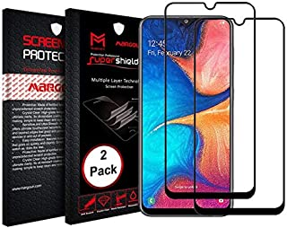 MARGOUN 2 Pack for Samsung Galaxy A42 5G Screen Protector Side Black 9D Tempered Glass 6.6 inches