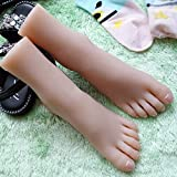 ZNXY 1 Paar Silikon Mannequin Fuß
