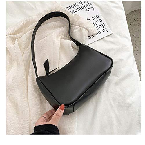 L-sister Bolsas retro para mujer Voguish Vintage bolso Distaff pequeñas bolsas subaxilares casual retro mini bolso de hombro estilo único (color: bolso negro, tamaño: XL)