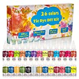 Tie Dye Kit,26 Colors Shirt Dye Kit for Kids for Adults, Woman,Man, Add All in One Creative Tie-Dye Kit Perfect for Party Group