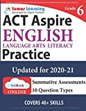 ACT Aspire Test Prep: Grade 6 English Language Arts Literacy (ELA) Practice Workbook and Full-length Online Assessments: ACT Aspire Study Guide