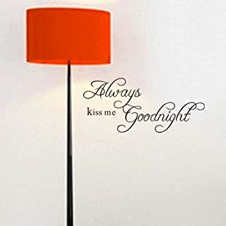 Always Kiss Me Goodnight -Vinyl Wall Lettering Stickers Quotes and Sayings Home Art Decor Decal