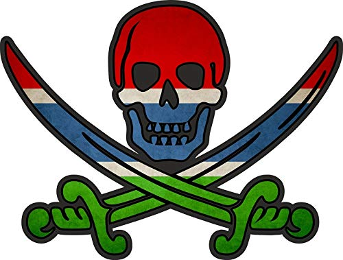 Akachafactory sticker piraat piraten Jack Rackham Calico vlag vlag waag Gambia