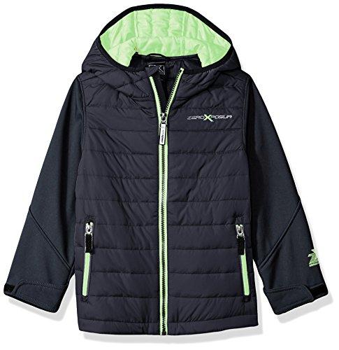 ZeroXposur Little Juvi Boys Agent Quilted Lightweight Jacket, Dark Grey, Large