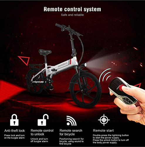 Electric Bikes OD-B Folding Electric Bicycle Aluminum Alloy Electric Bike Unisex Adult Youth 20 Inch 25km/h 36V 8AH 250W Electric Ebike…
