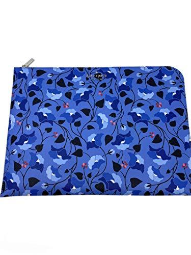 Kate Spade 15' Laptop Sleeve case Holder Staci Bloom L Zip Blue Multi Floral