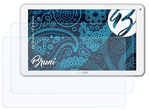 Bruni Schutzfolie kompatibel mit Archos 101b Xenon Folie, glasklare Bildschirmschutzfolie (2X)