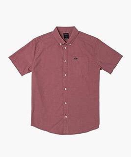 RVCA Men's Thatll Do Stretch Short Sleeve Woven Button Front Shirt