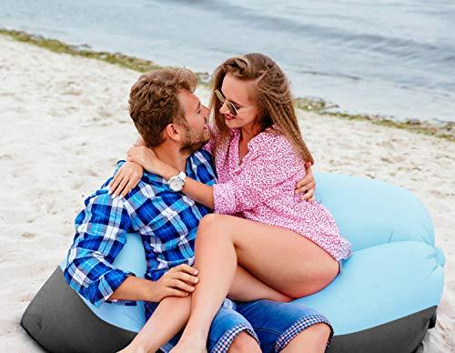 Fansport Hamac Gonflable avec air Sofa Gonflable Lounger Hamac Gonflable canapé Portable Étanche Pliable et Résistant à l'usure pour pour Camping en Bord de la Mer et Voyage en Plein Air Bouées