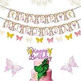 15 PCS Fairy Birthday Banner Fairy Birthday...