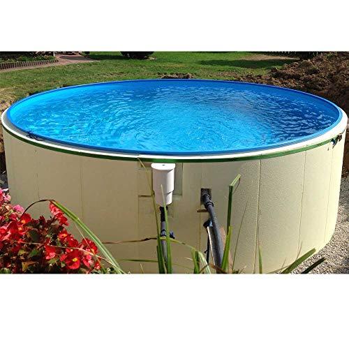 conZero Komplettes Poolbau-Set/Patentiertes System inkl. Pool Ø 4,50 x 1,50 m Rundpool für Erdeinbau
