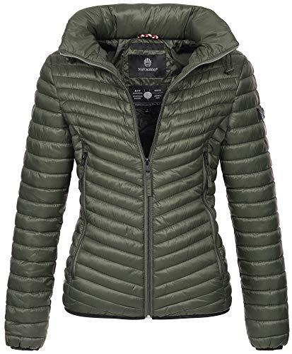 Navahoo Designerska damska kurtka pikowana kurtka przejściowa pikowana kaptur B654