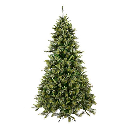 Vickerman Cashmere Slim Artificial Christmas Tree with 600 Multi-Colored Lights, 7.5' x 46'
