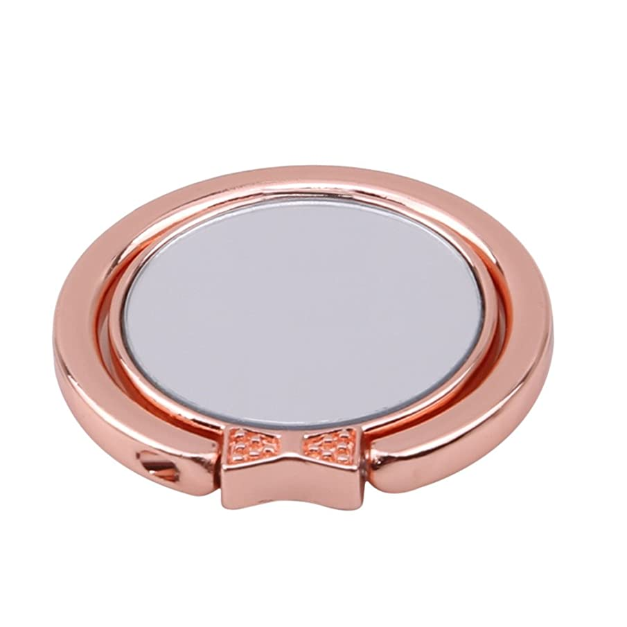 LJSLYJ Ring Stand Cell Phone Finger Ring Holder Key Ring Kickstand (Rose gold)
