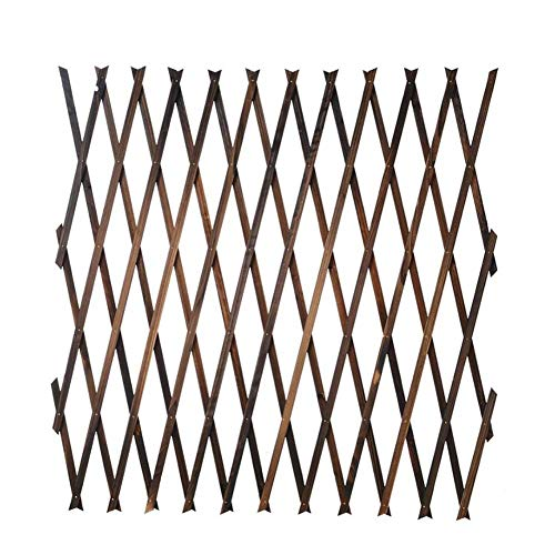 Dequate Wooden Trellis Screening - Expanding Wooden Trellis Fencing Garden Plant Support - Anti-corrosion Folding Expandable Wooden Wall Trellis Panels For Climbing Plants - 4 Sizes Trellis Available