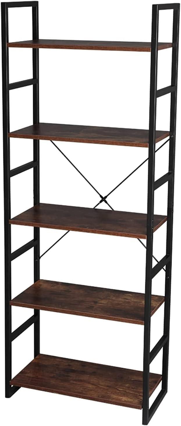 HDHUIXS Ostensible 5 Tier Vintage Organiz Shelf Bookcase Very Seattle Mall popular Storage