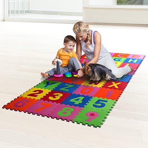 Casa PuraPuzzlematte 86- teilig Puzzle Matte Spielteppich Kinderspielteppich Schaumstoffmatte Matten Spielmatte Teppich Spiele Matte Matten