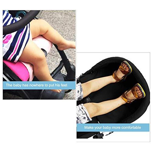 S-TROUBLE 32cm Kinderwagen Zubehör Trittbrett Wagen Fußstütze Fußverlängerung Fußsack Fußstütze Beinstrecker Booster